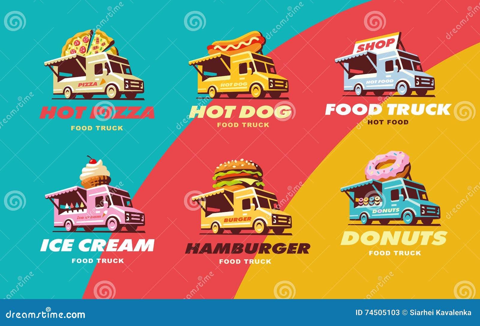 Fije el camión de la comida de los ejemplos