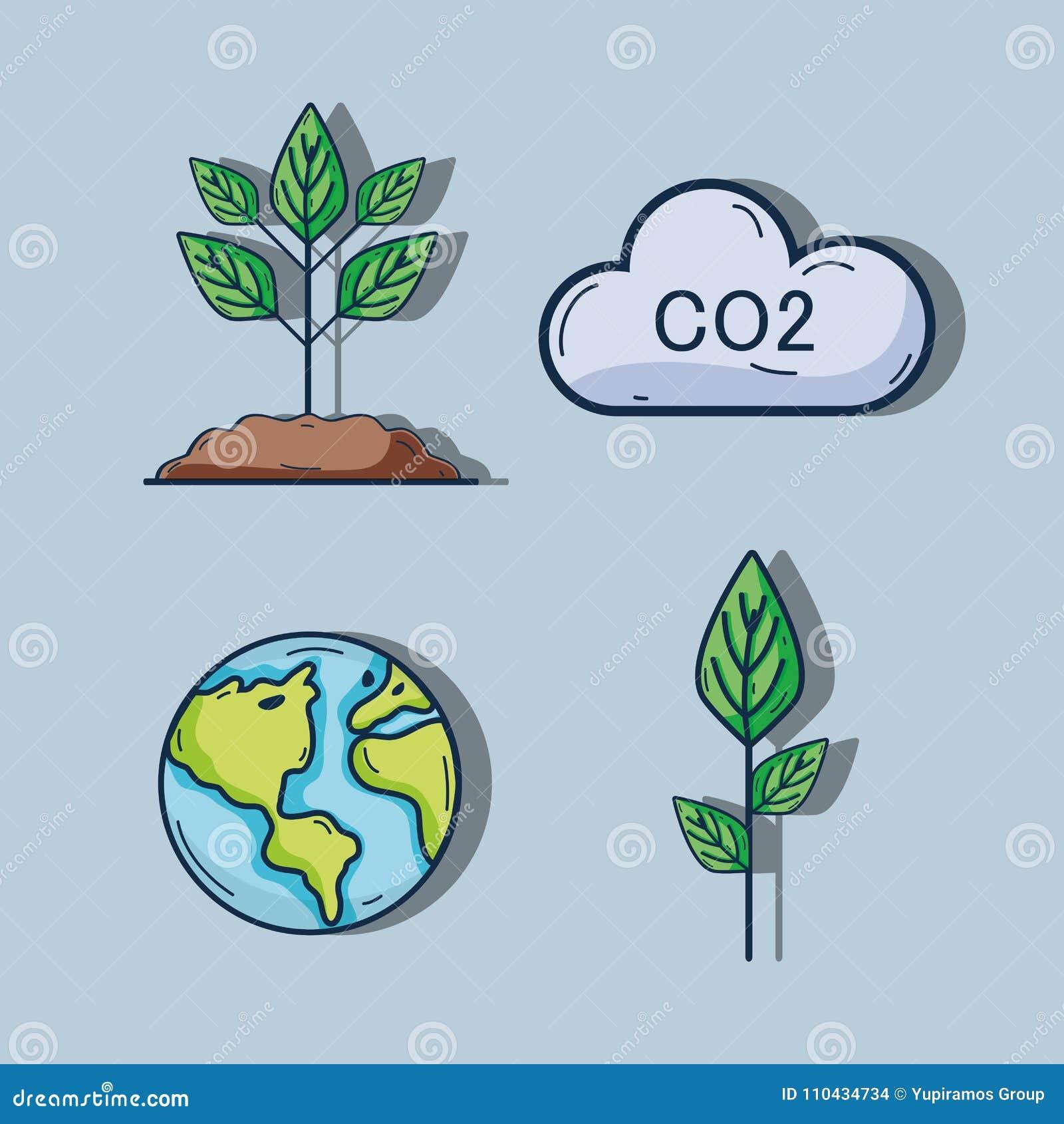 Fije El Cuidado De La Naturaleza Del Ambiente A La Ecología Ilustración Del Vector Ilustración De Sostenible Planeta 110434734