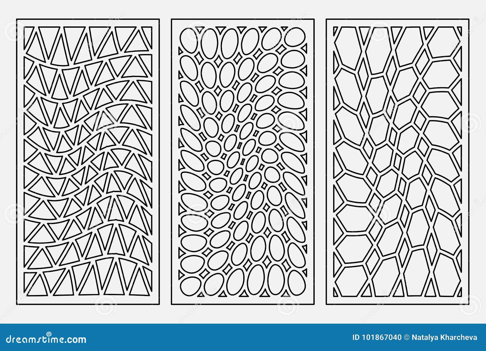 Fije el ornamento geométrico del modelo Tarjeta para el corte del laser Diseño decorativo del elemento Modelo geométrico