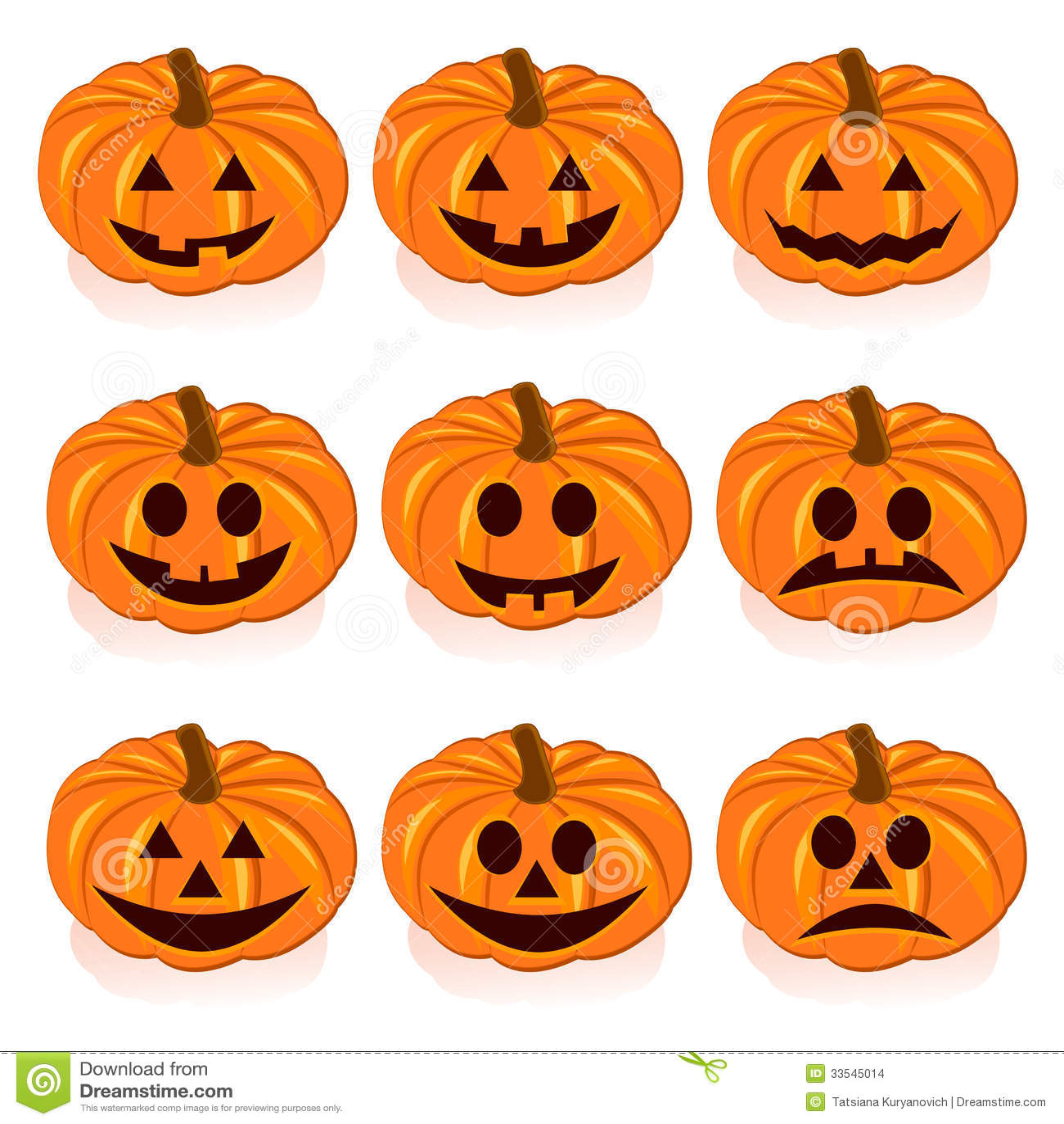 Fije Las Calabazas Para Halloween Ilustracin del Vector