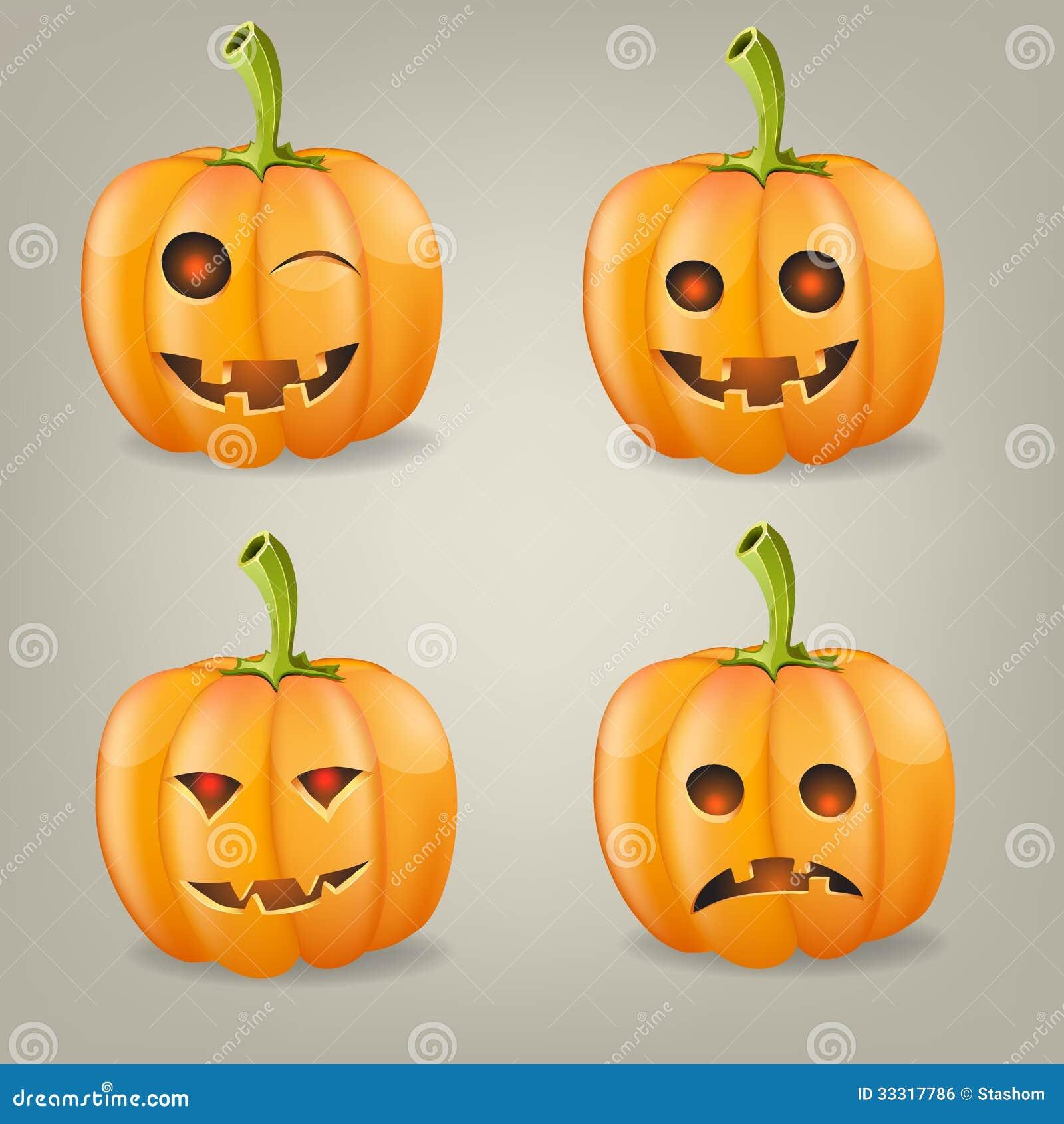 Fije las calabazas para halloween vector el ejemplo - Calabazas halloween originales para ninos ...