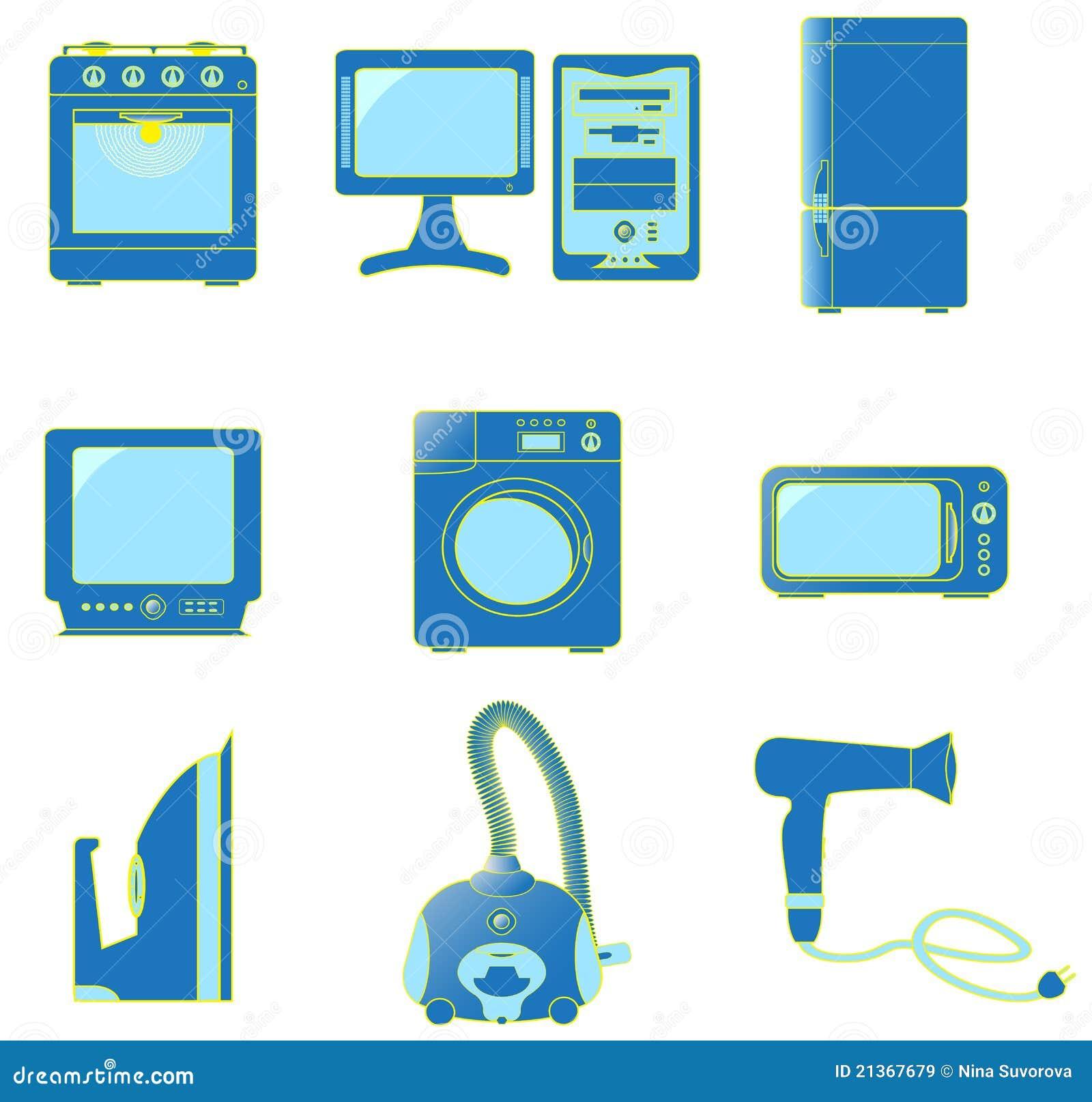 Fije los iconos de los aparatos electrodom sticos im genes - Lo ultimo en electrodomesticos ...