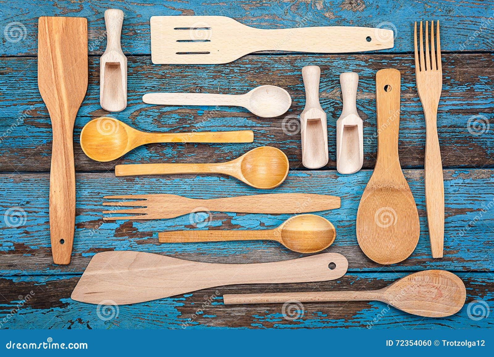 Fije Los Utensilios De La Cocina Accesorios Para Cocinar Foto De
