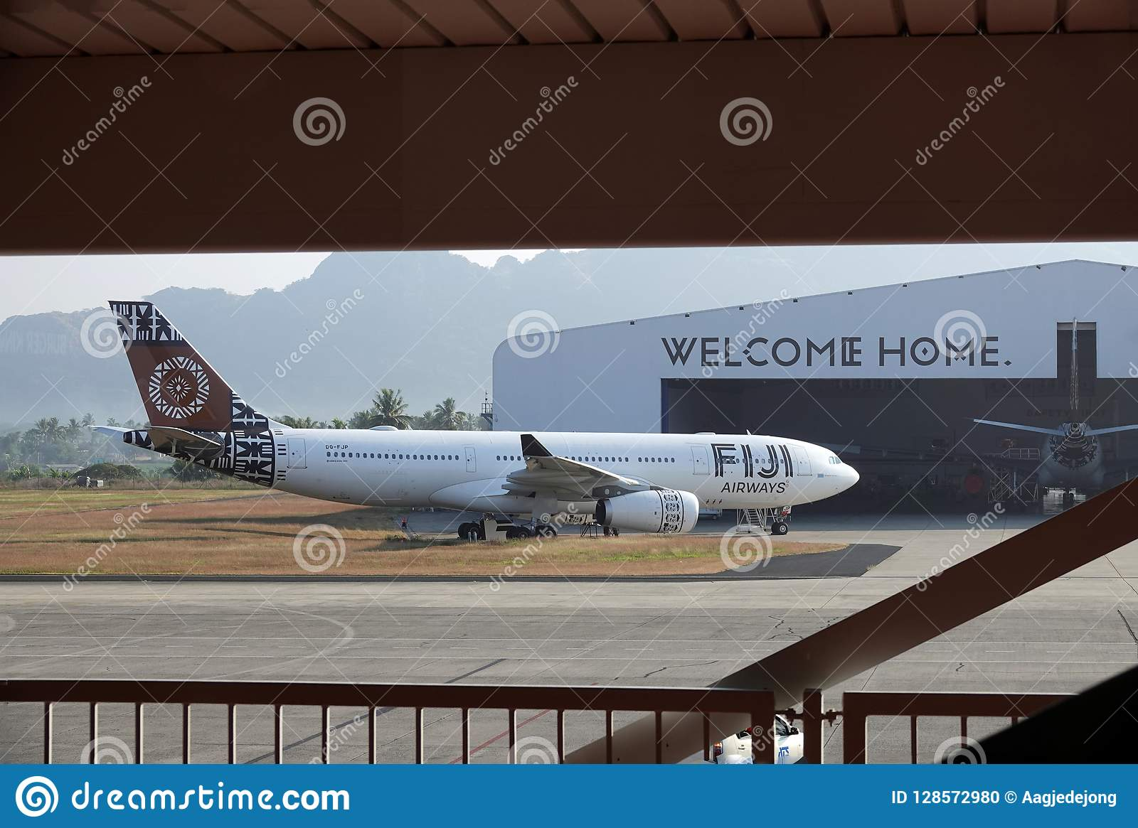 Fiji Airways Plane, Welcome Home Ion Nadi Airport, Fiji