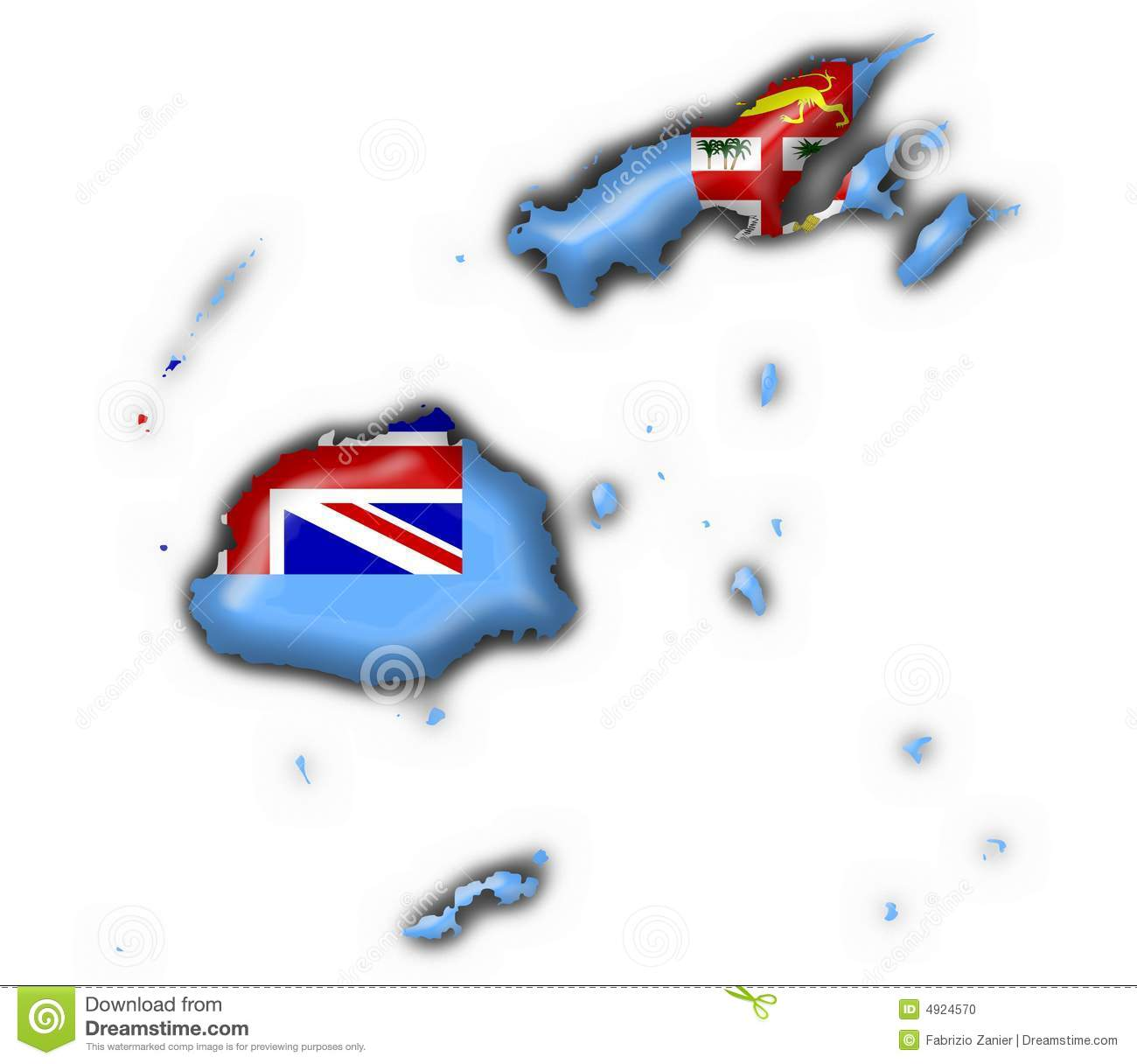 fiji button flag map shape stock illustration illustration of oceania 4924570