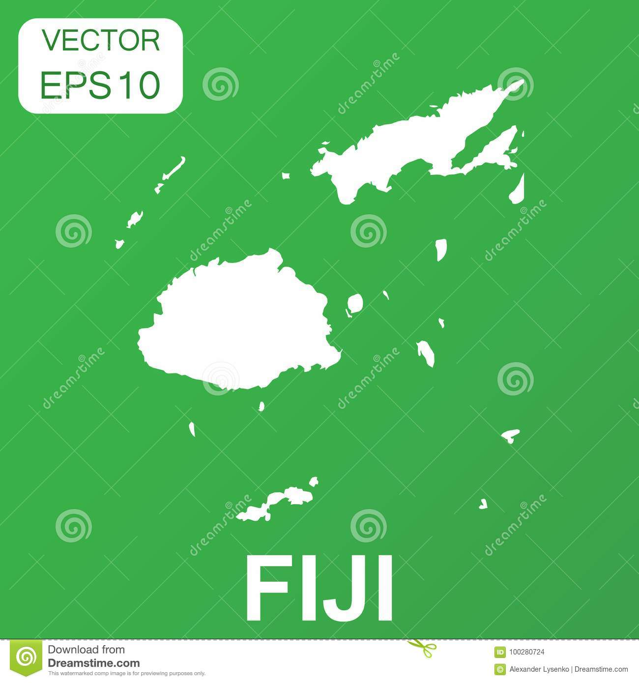 Fiji Map Icon Business Concept Fiji Pictogram Vector Stock