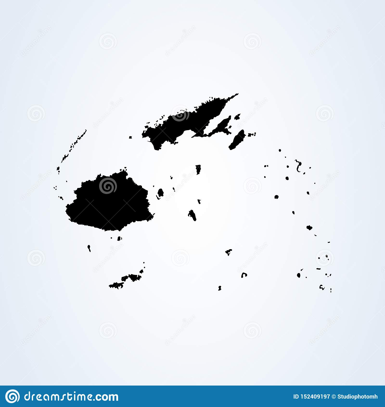 Fiji Map Simple Vector Modern Icon Design Illustration