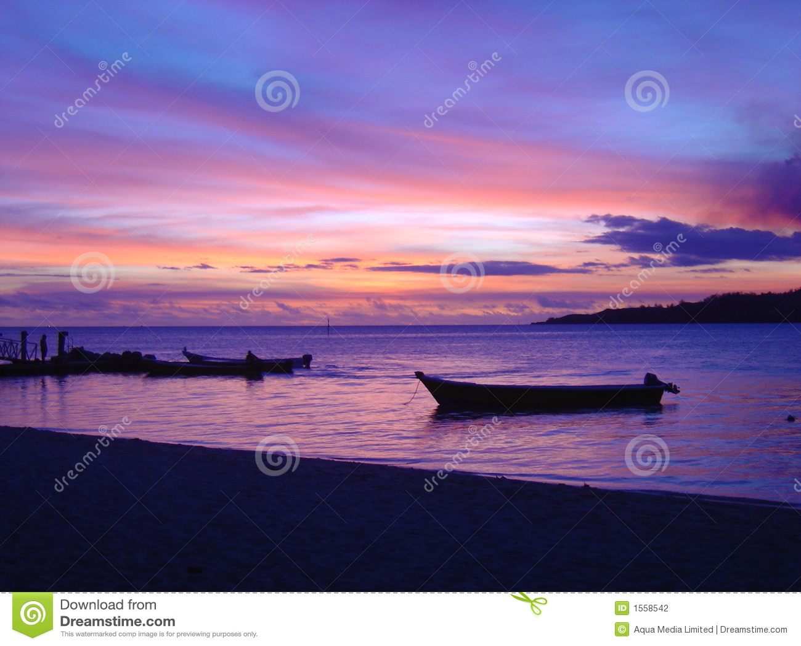 Fijian惊人的日落