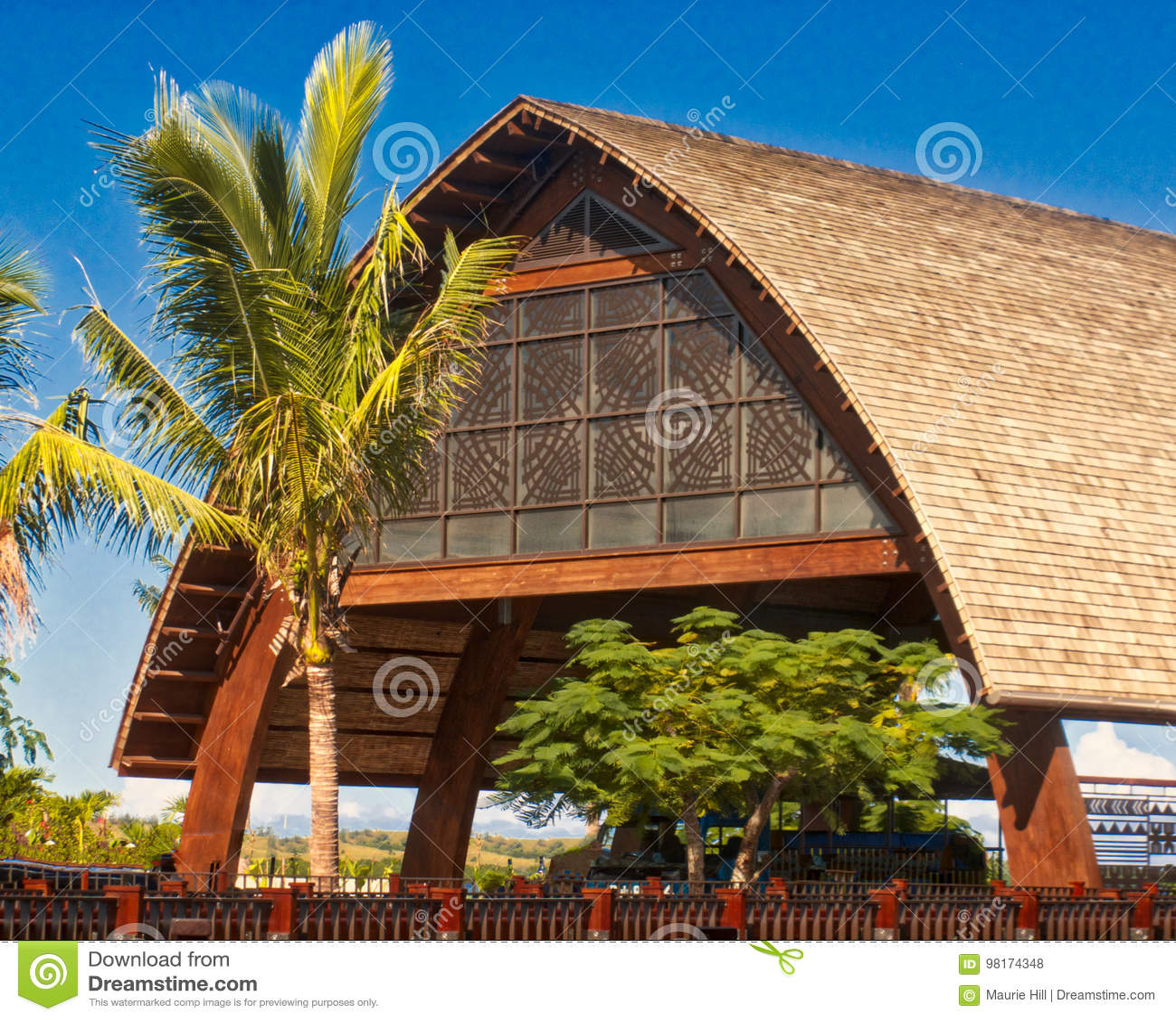 Fijian Architecture At Momi Resort Editorial Stock Photo Image Of