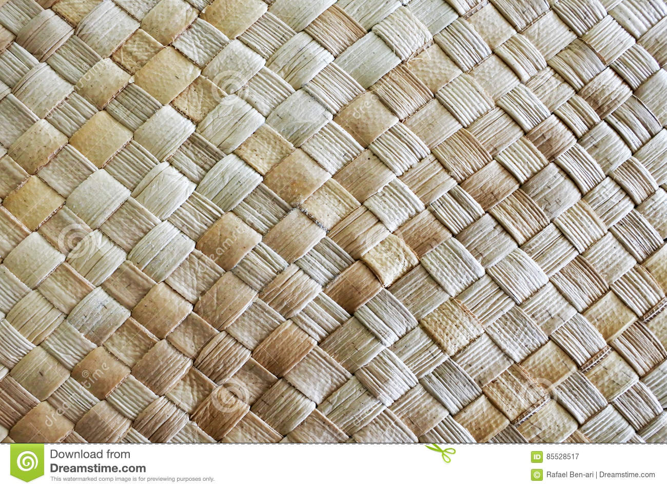 Woven Palm Leaves Mat Background Stock Photography