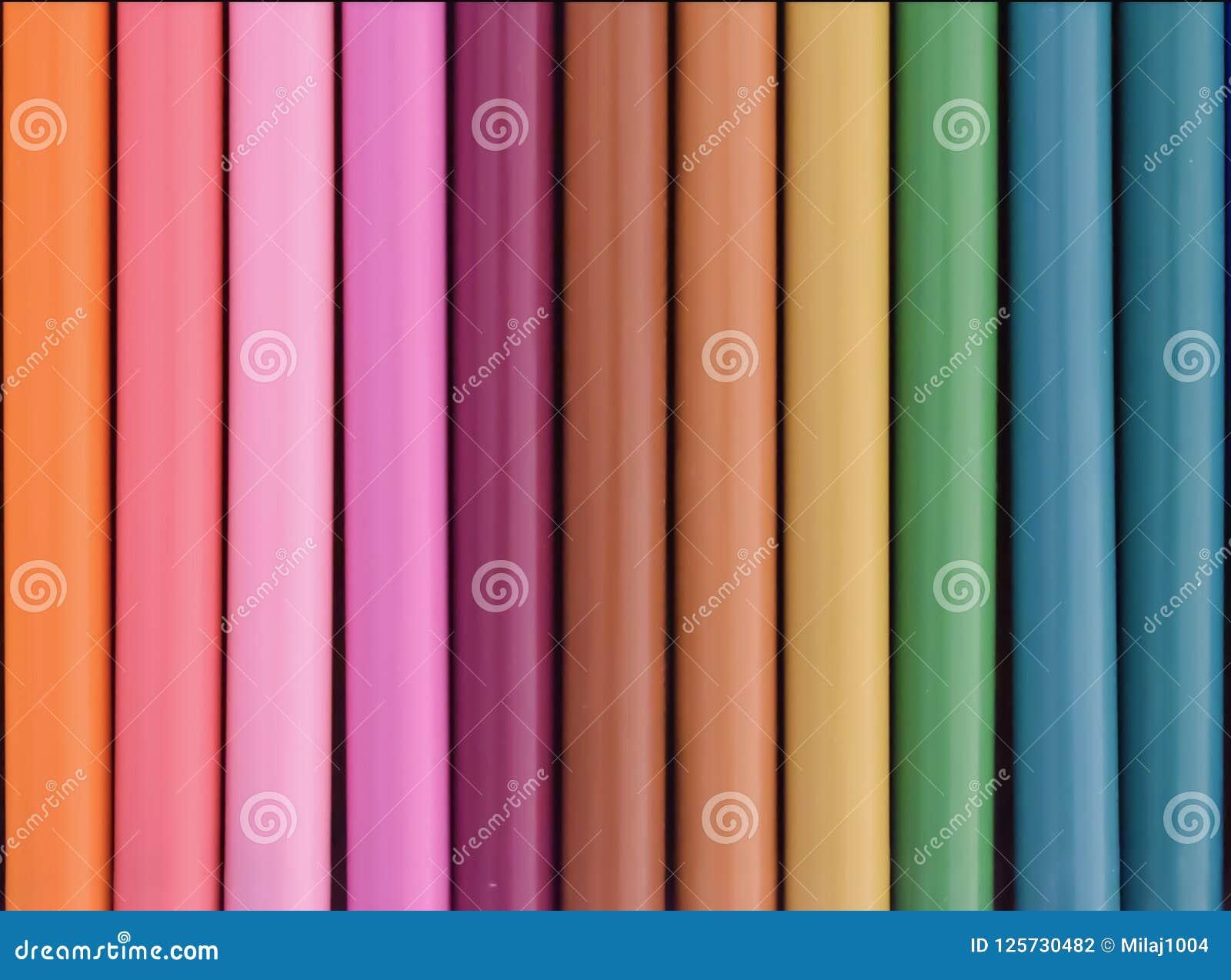 Fila del fondo colorido de las plumas de extremidad de fieltro