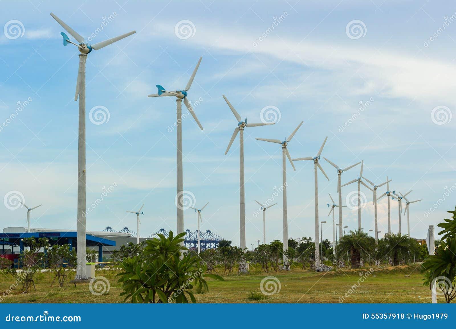 Fila del generatore eolico