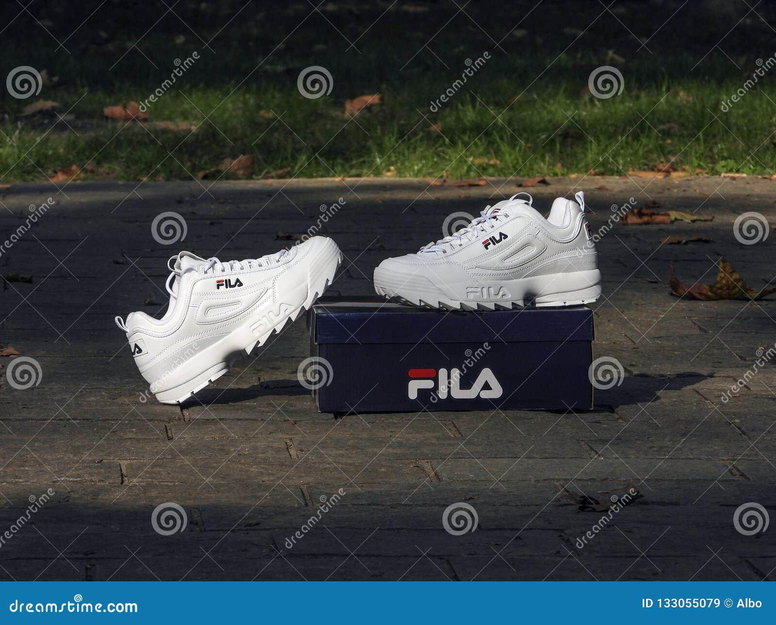 Fila Disruptor editorial stock image. Image of foot 133055079