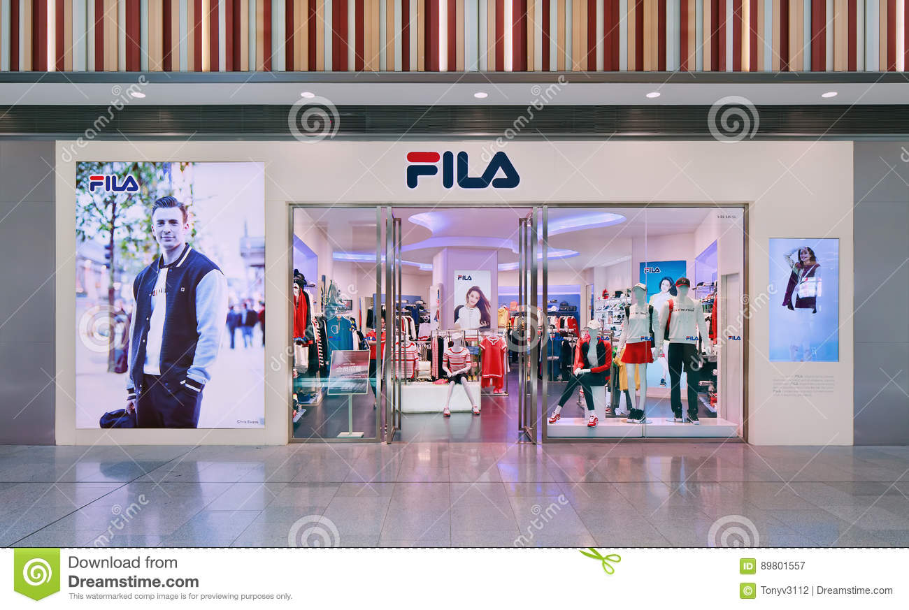 Front of Fila outlet. Founded in 1911 in Italy 5ffba1fdc508