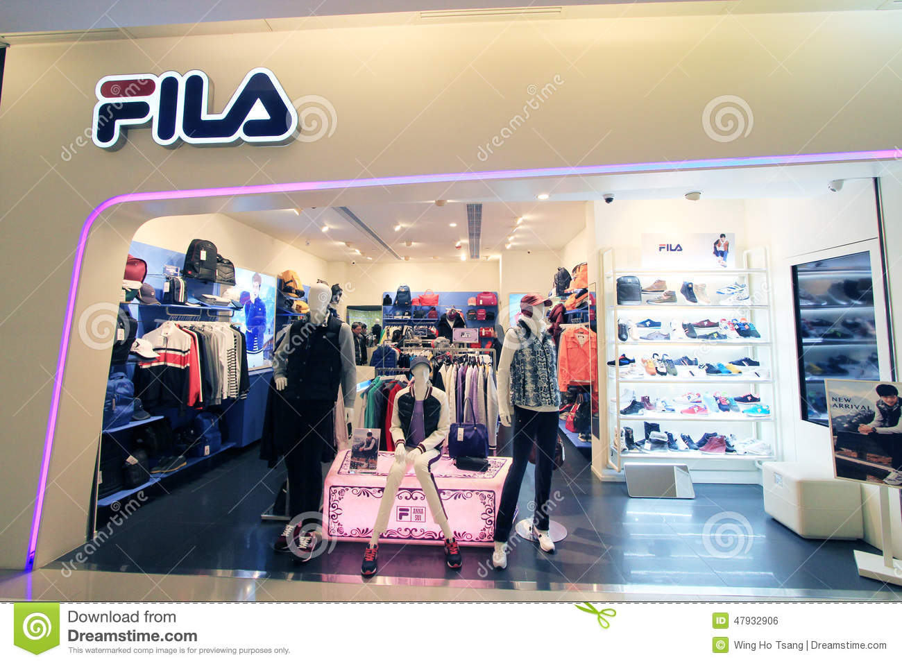 Fila shop in hong kong editorial photo. Image of clothes - 47932906