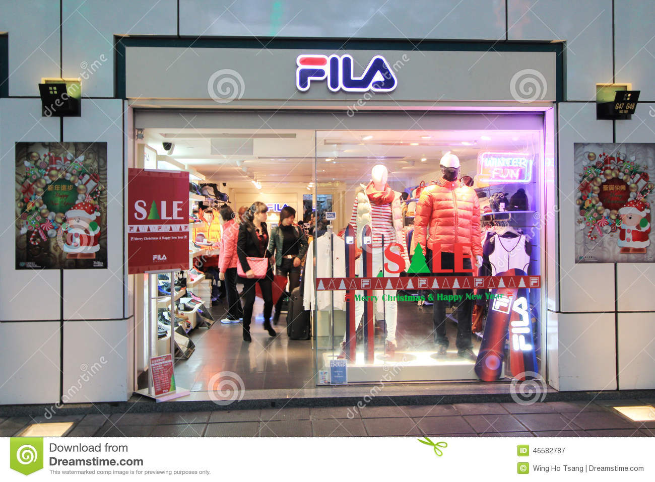 Fila shop in hong kong editorial photography. Image of polo - 46582787 7c6076411a84