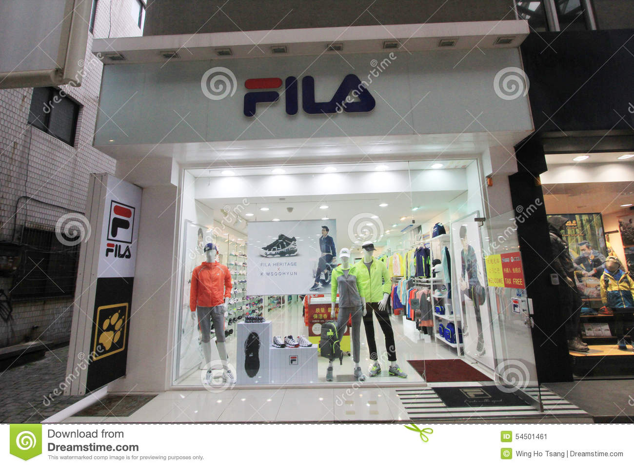 Fila shop in South Korea editorial photo. Image of korea - 54501461