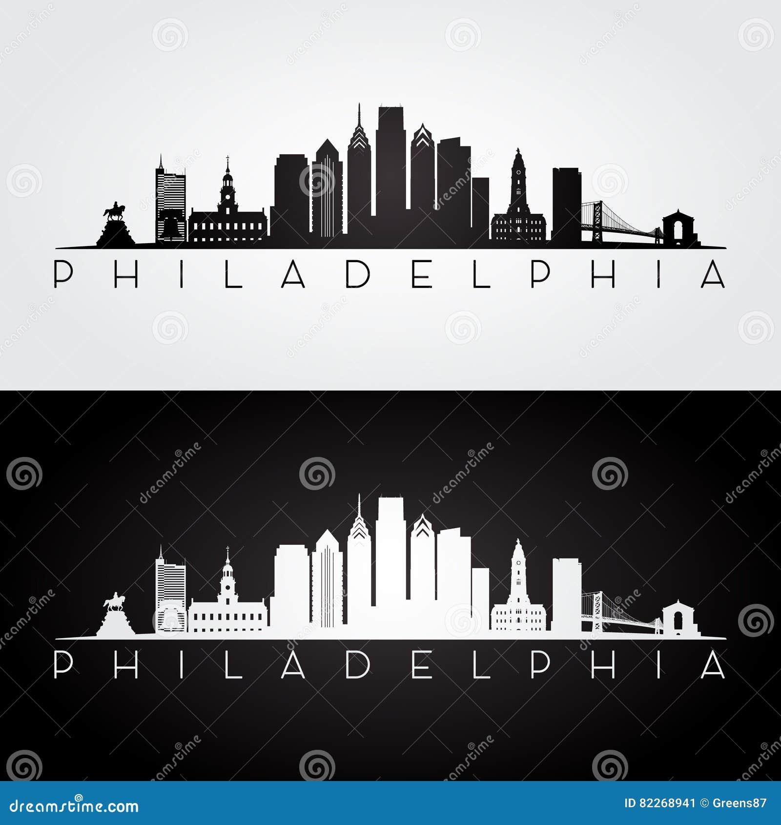 Filadelfia linii horyzontu sylwetka