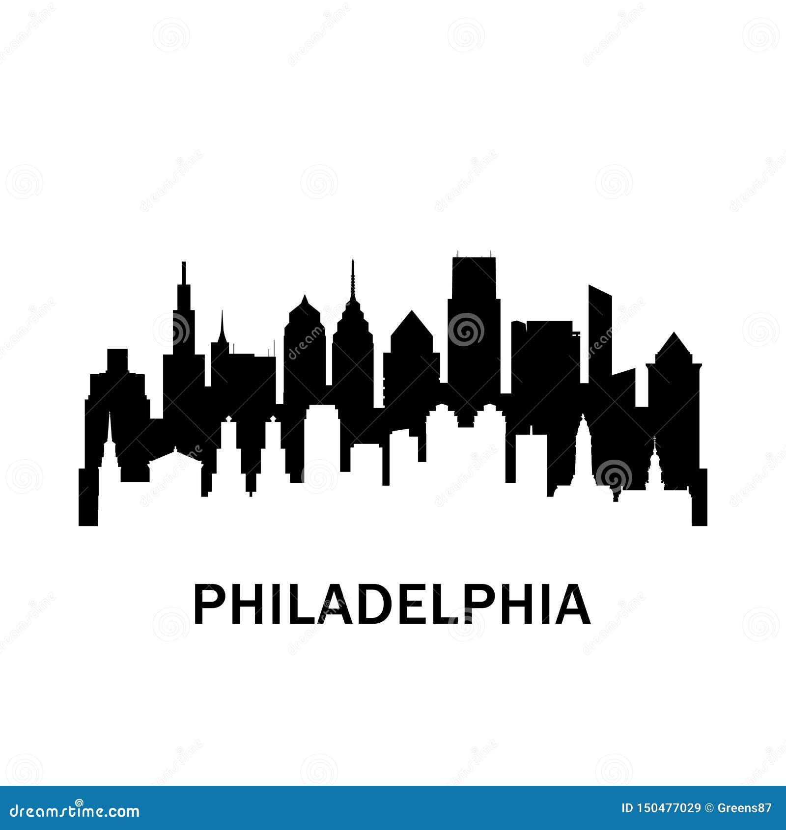 Filadelfia miasta linia horyzontu