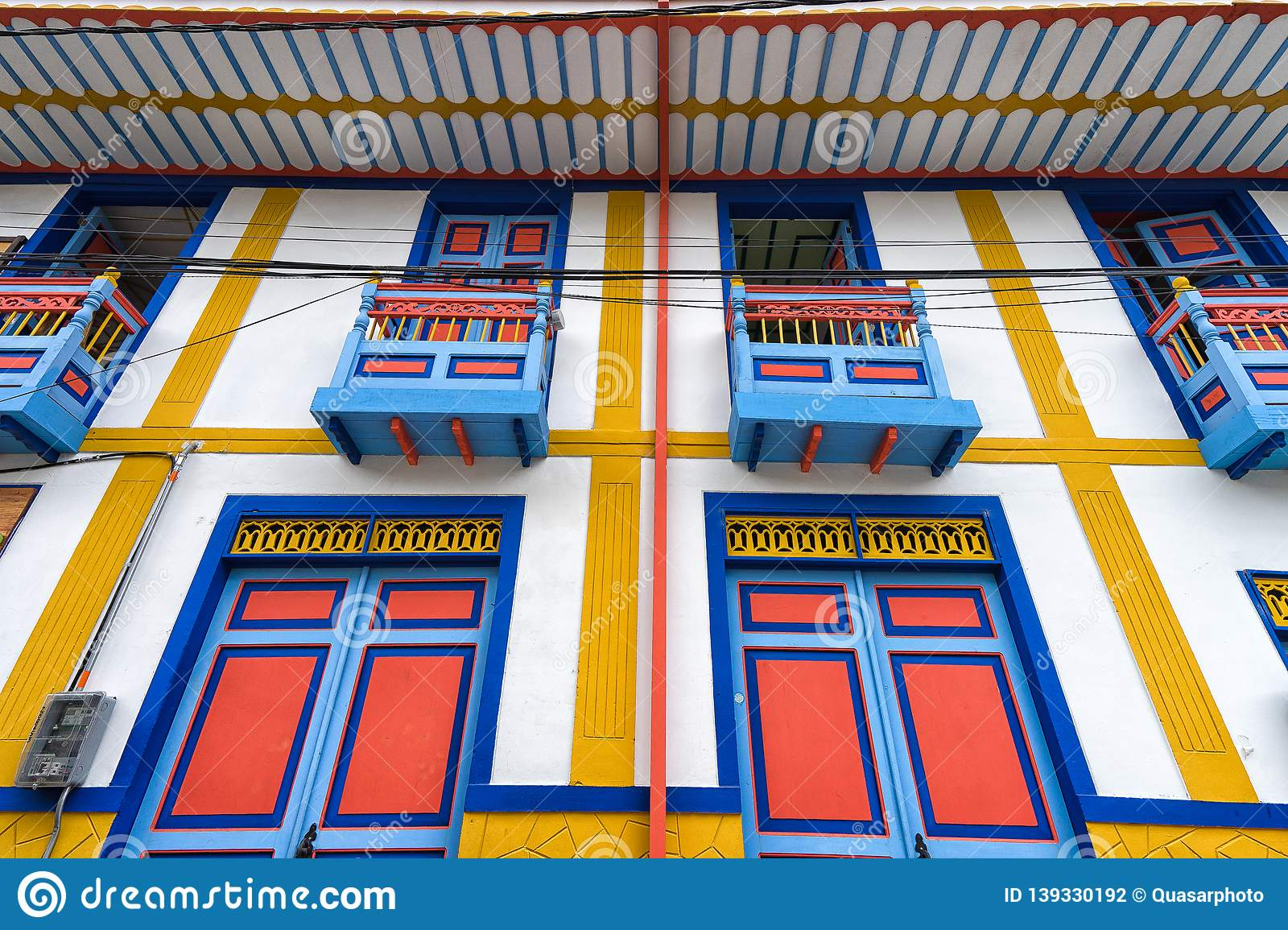 Brightly Coloured Architectural Detail In Salento Colombia Editorial Photography Image Of Building Decoration 139330192