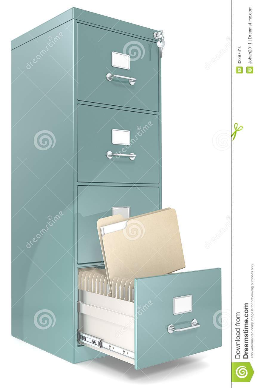 File Cabinet. Stock Photo