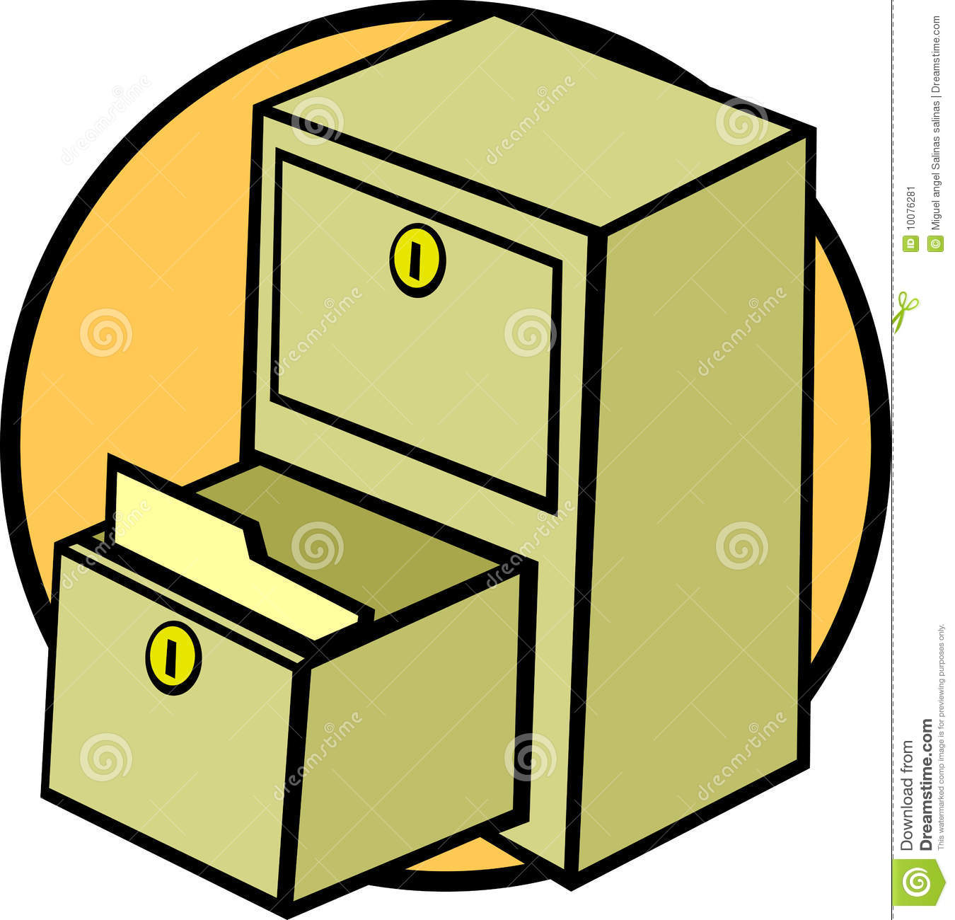 Kitchen Cabinet Clip Art: File Cabinet Drawer And Folder Vector Illustration Stock