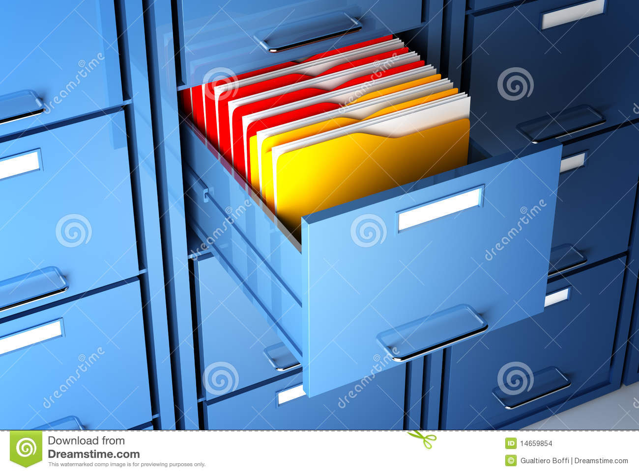 File Cabinet And Folder Stock Images - Image: 14659854