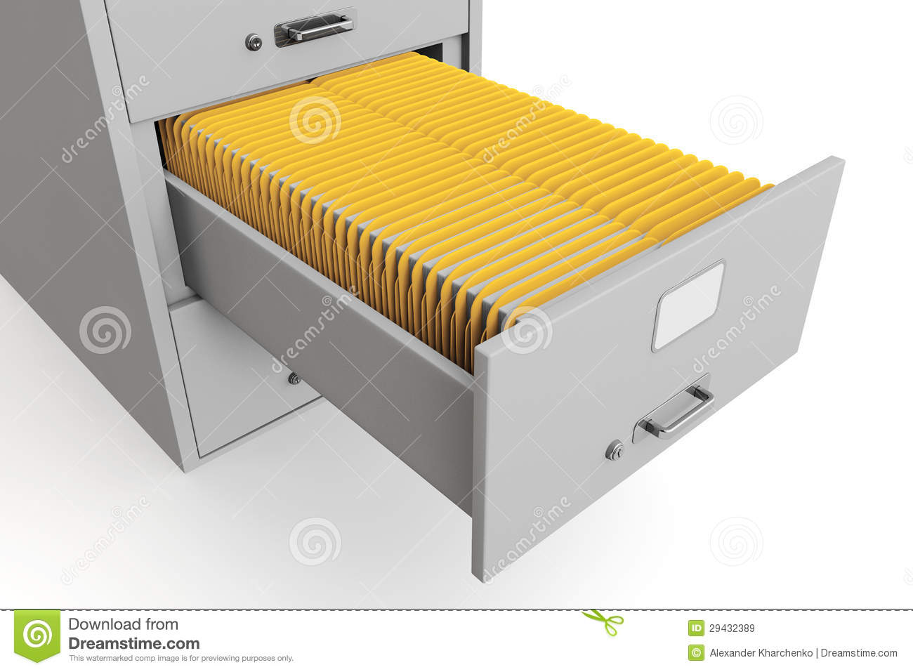 File Cabinet With Folders Royalty Free Stock Images - Image: 29432389
