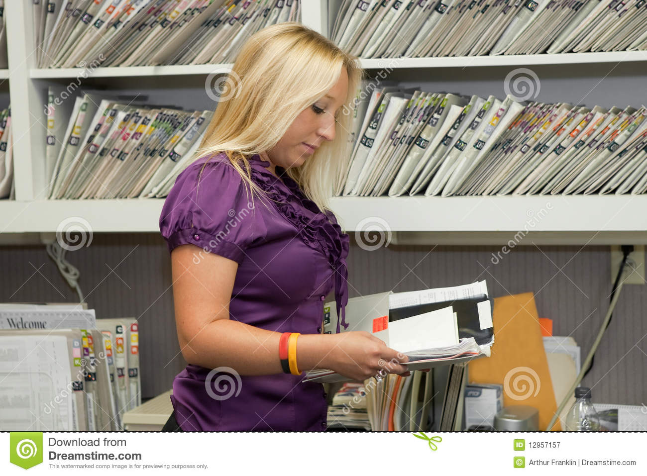 File Clerk Stock Image Image Of Lady Doctor Happy