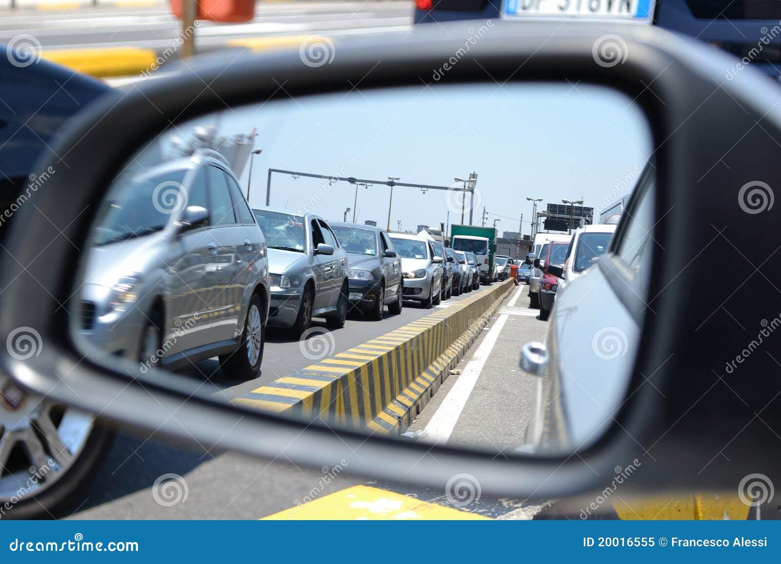 File d attente de véhicules