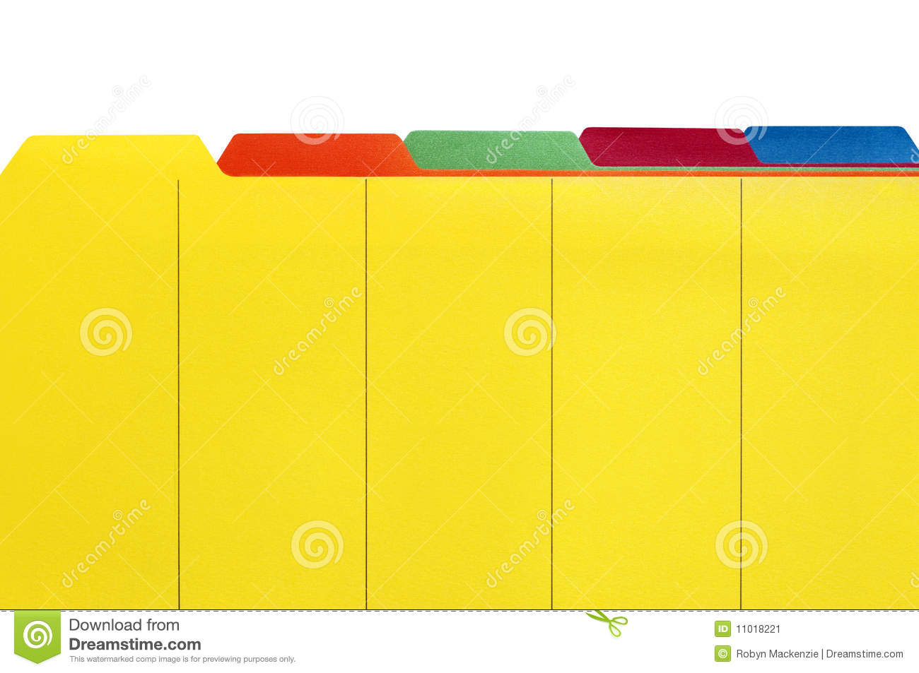 File Dividers Stock Image Image Of Photograph Color