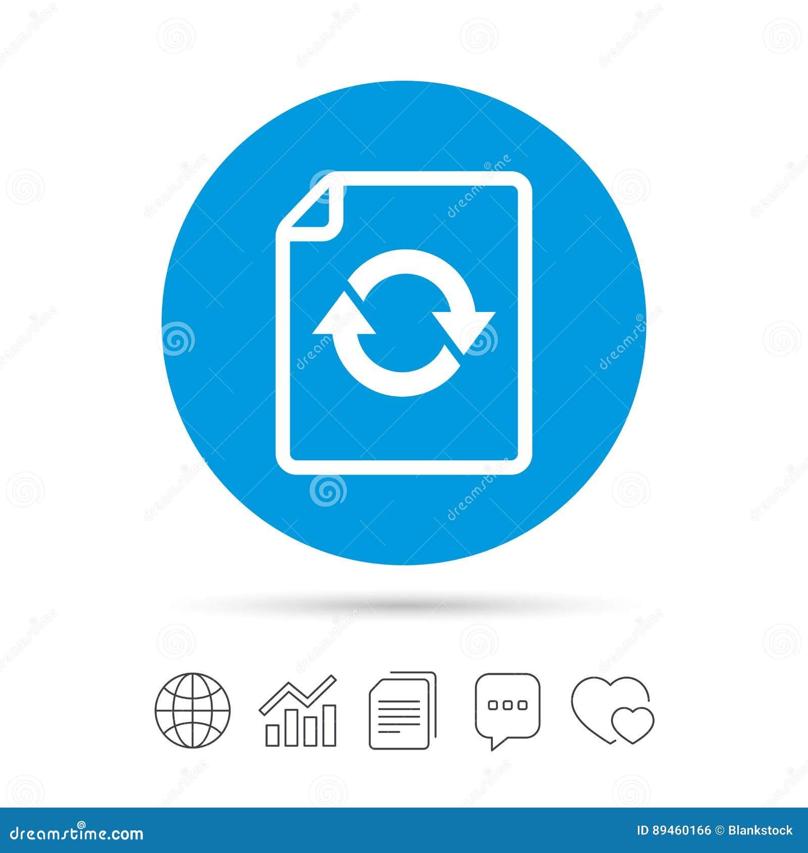 File Document Refresh Icon  Reload Doc Symbol  Stock Vector