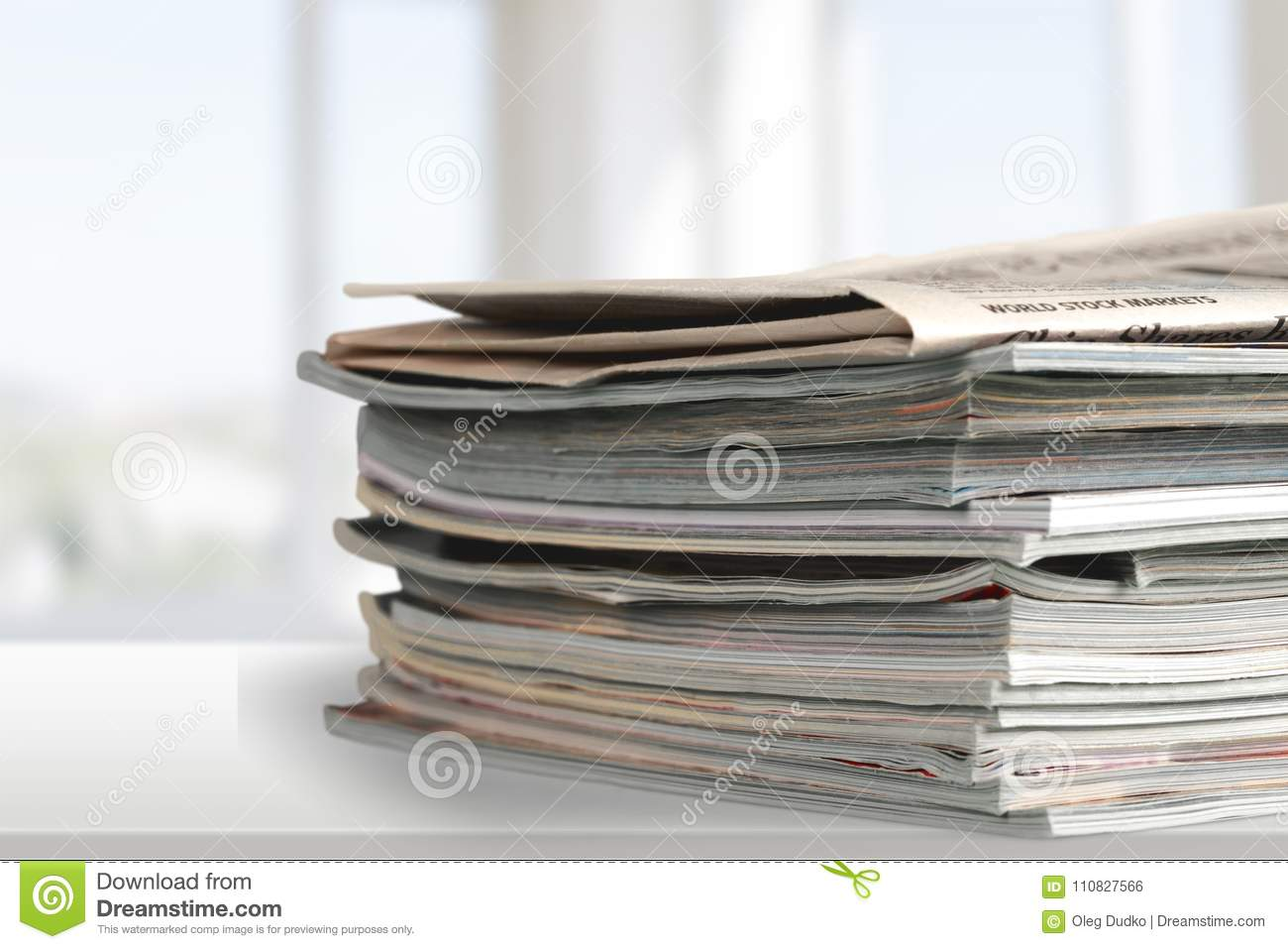 File folders with documents on