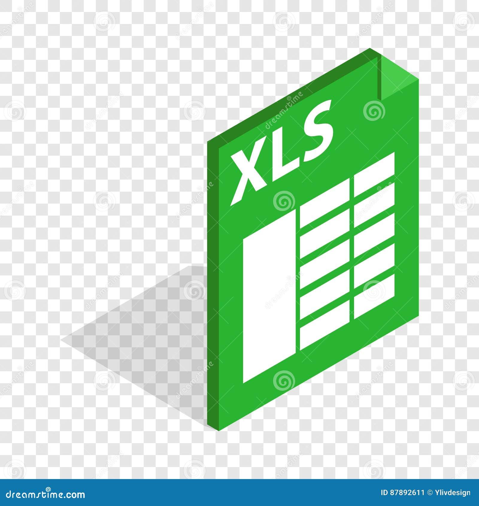 File Format Xls Isometric Icon Stock Vector - Illustration