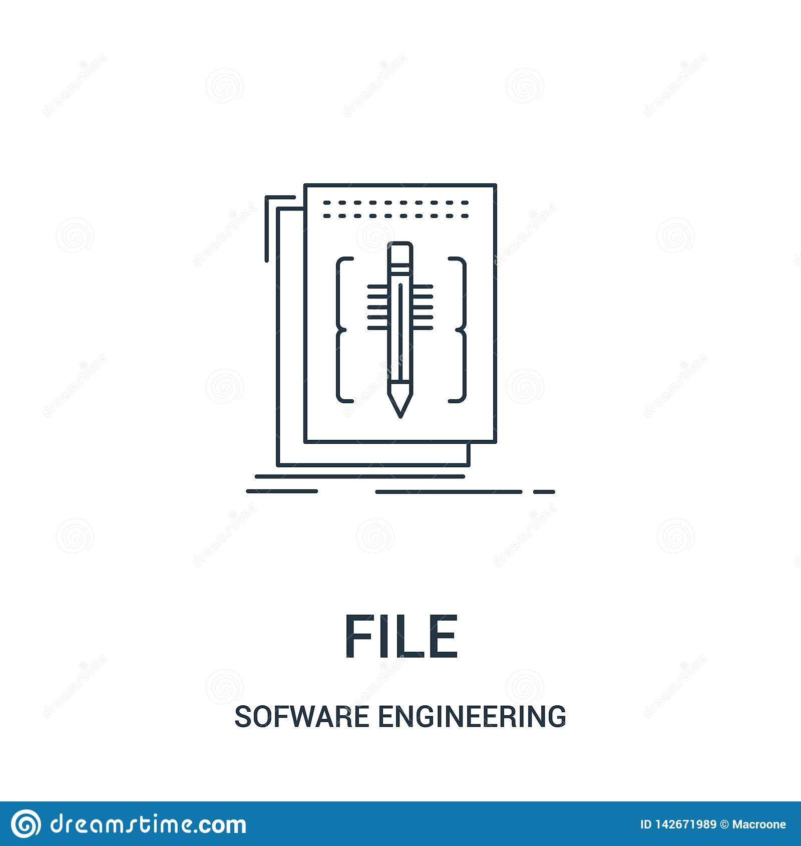 file icon vector from sofware engineering video gaming collection. Thin line file outline icon vector illustration. Linear symbol
