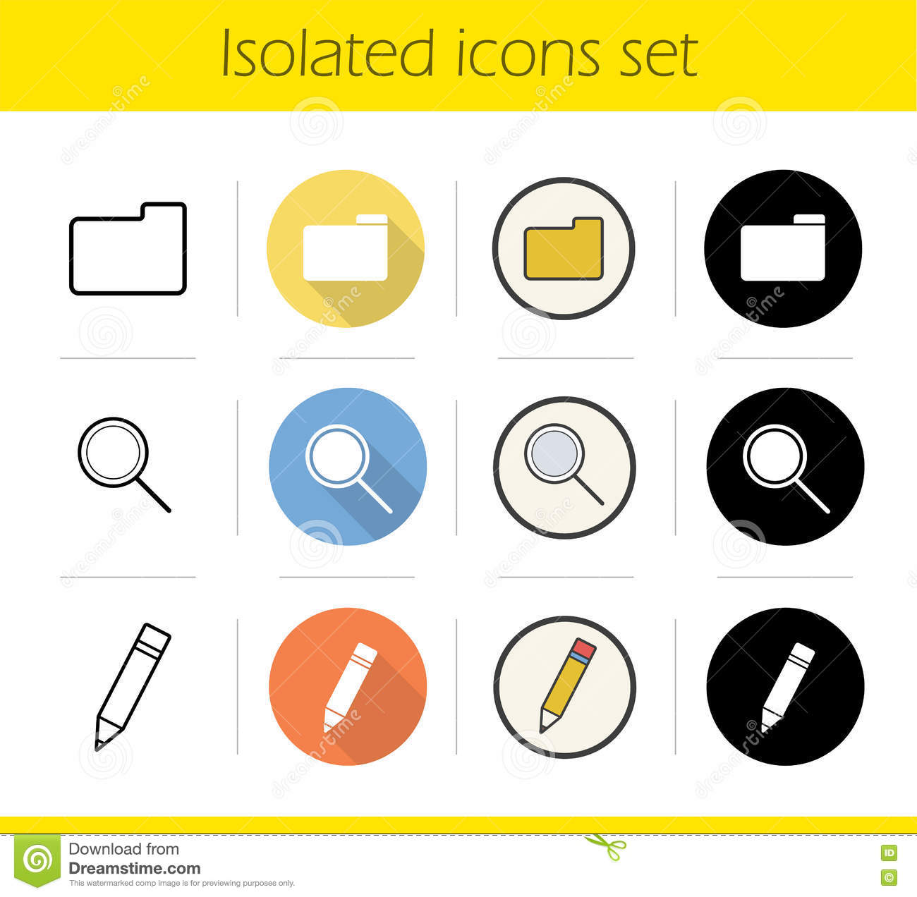 file manager icons set stock vector illustration of object 80805199 rh dreamstime com