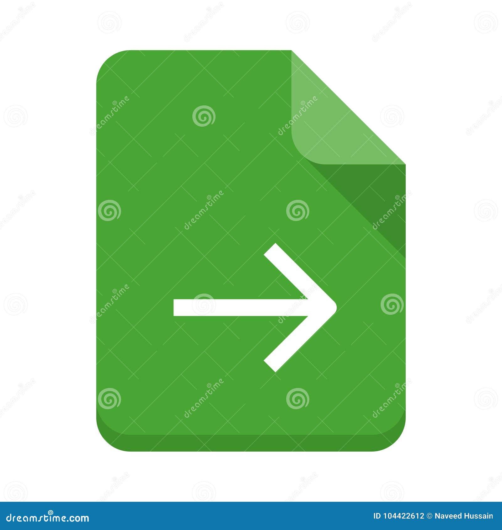 File next vector flat icon stock illustration  Illustration