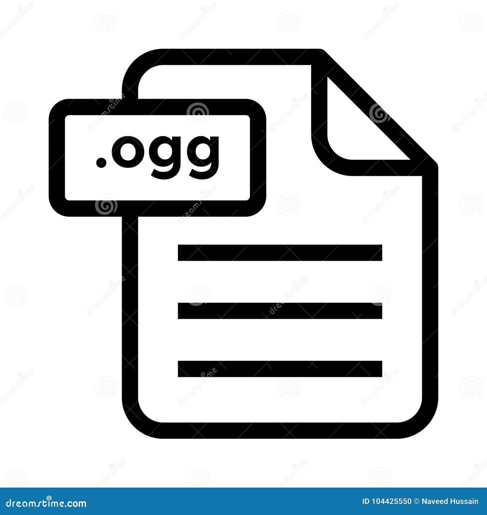 File ogg Line icon stock illustration  Illustration of design