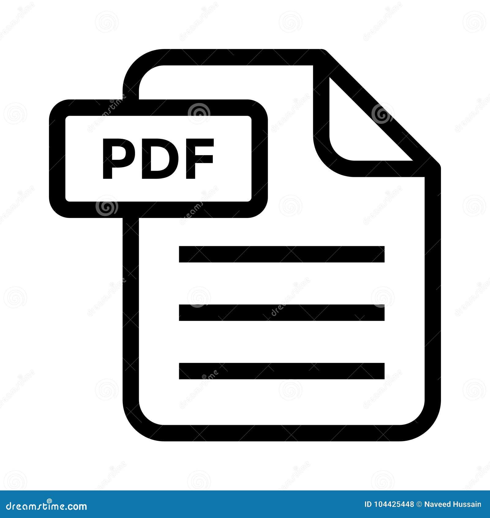 File Pdf Line Icon Stock Illustration Illustration Of Design 104425448
