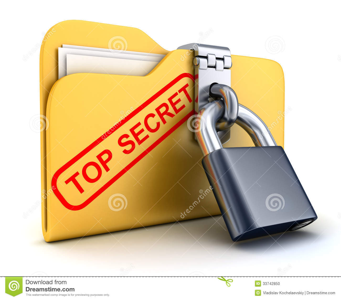 File Top Secret And Lock Stock Photo - Image: 33742850