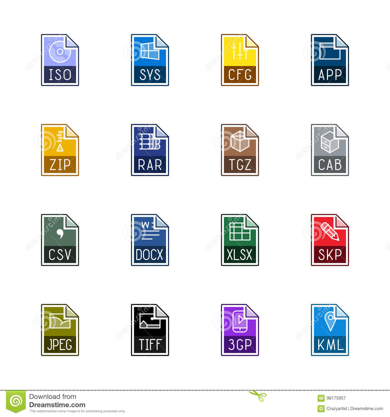 File type icons: Miscellaneous - Linne Color