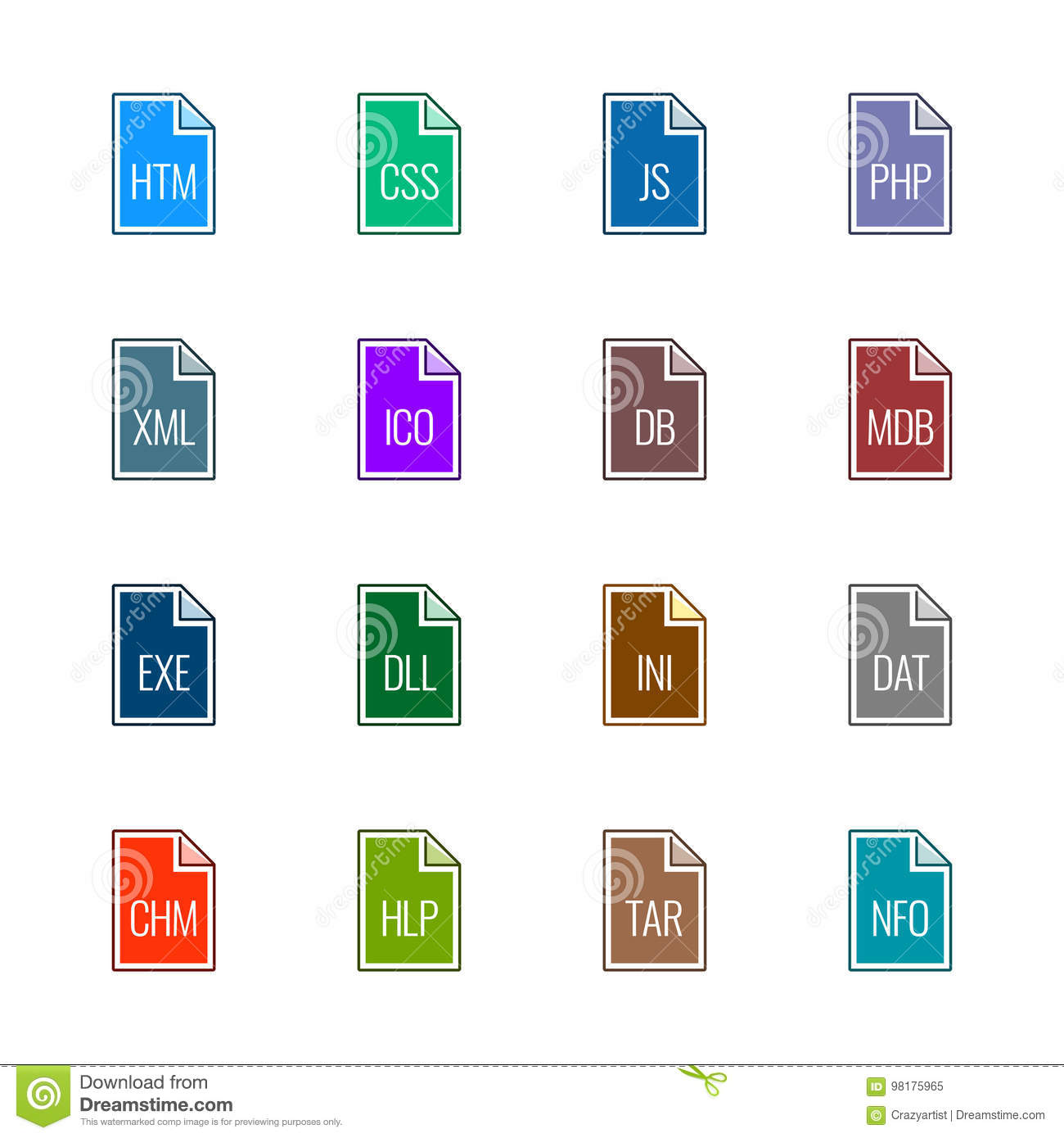 File type icons: Websites and applications - Linne UL Color