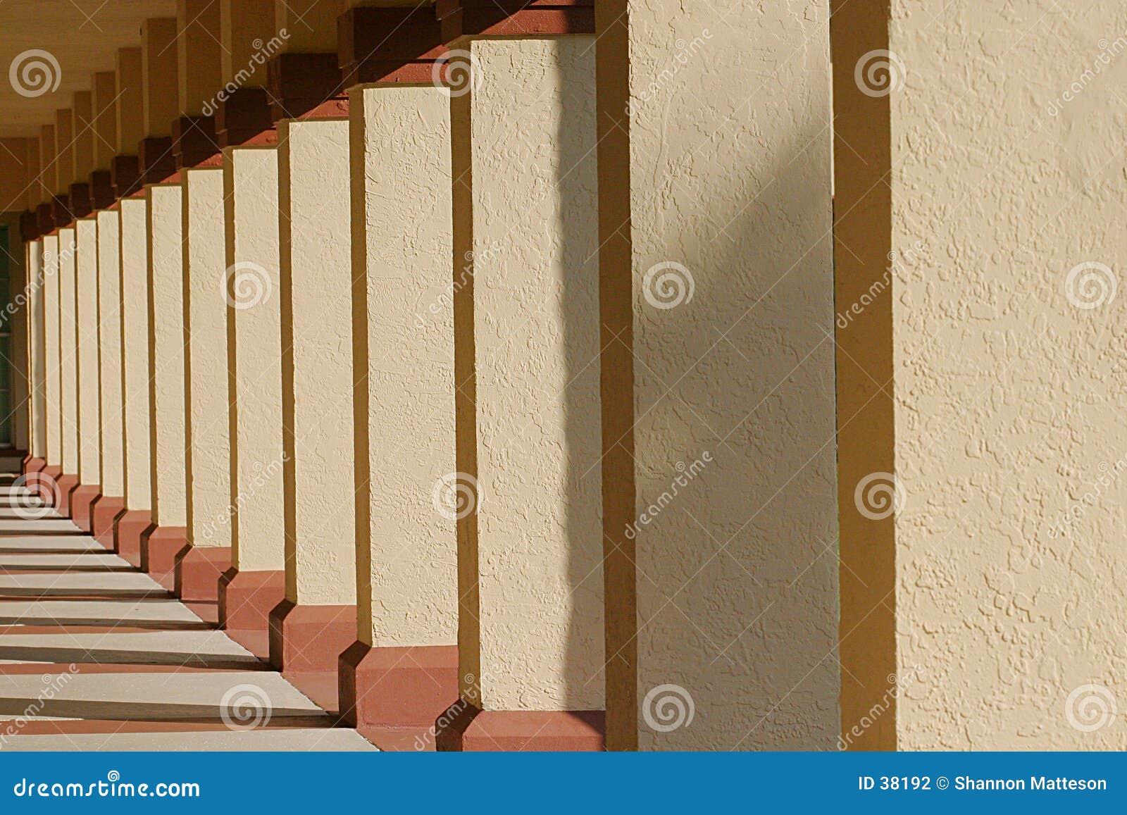 Fileira das colunas