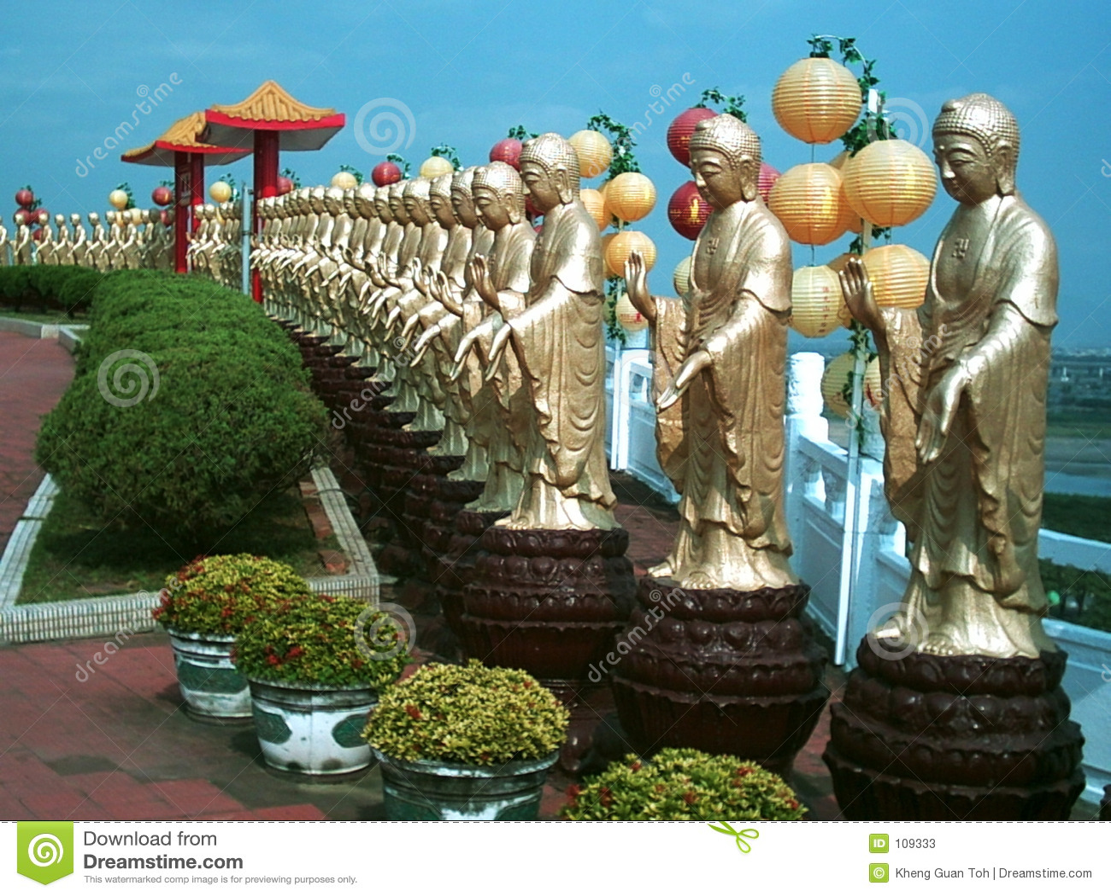 Fileira dos buddhas
