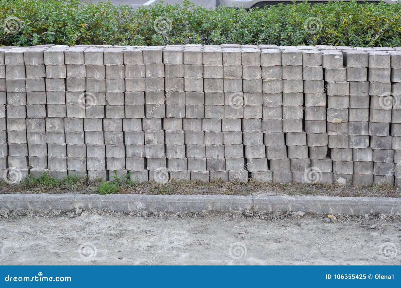 Fileiras de pavimentar lajes