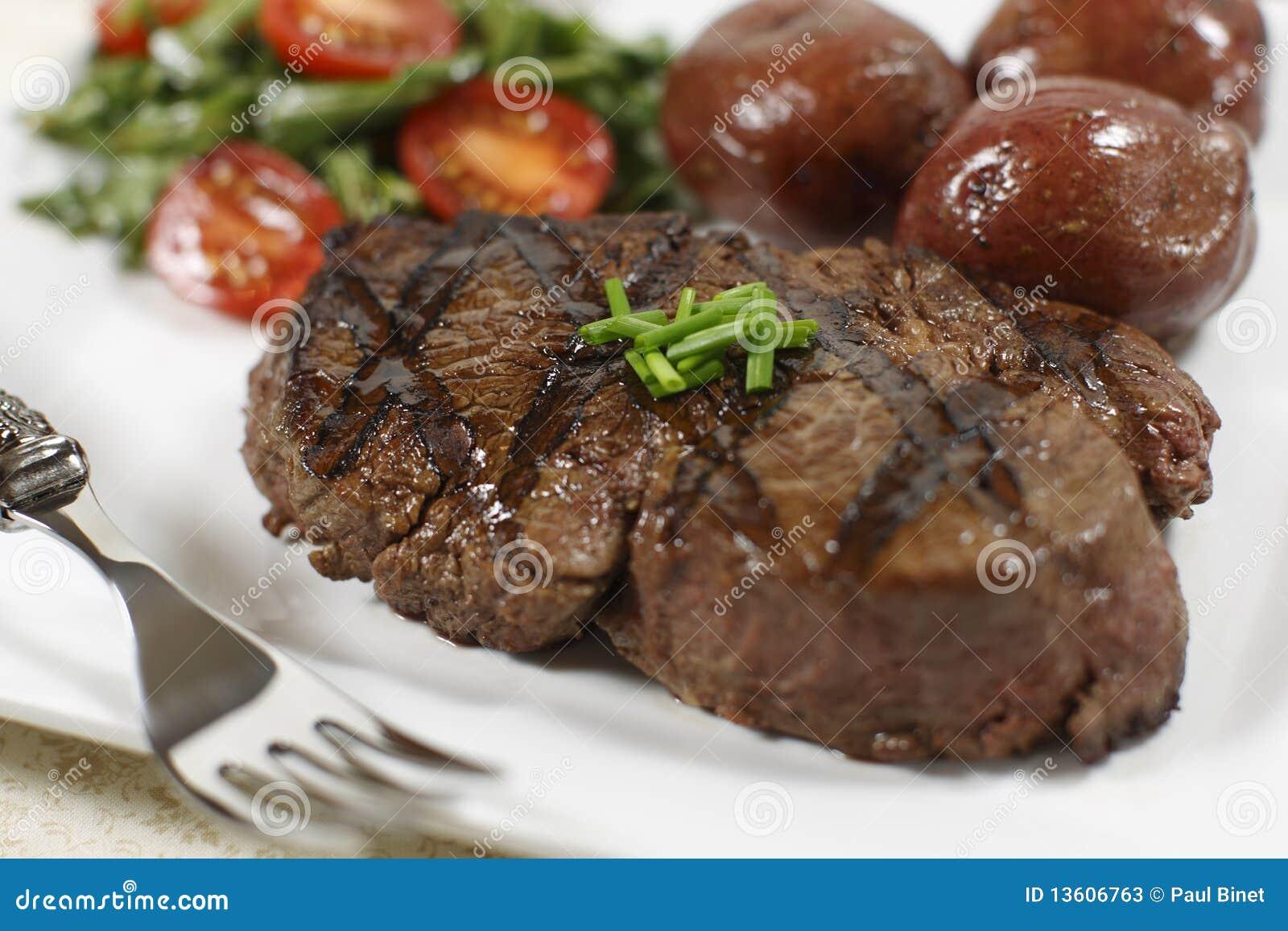 Filet mignon cooked