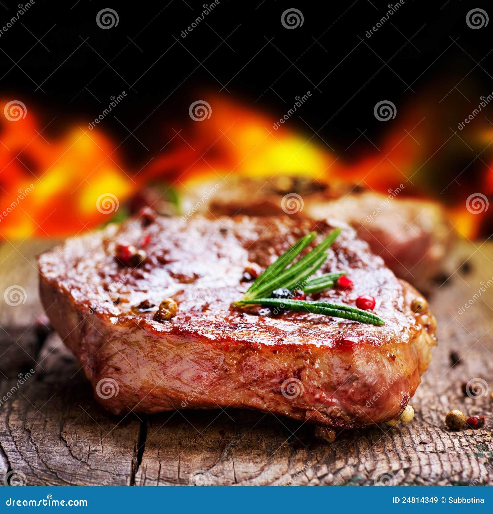 Filete asado a la parilla