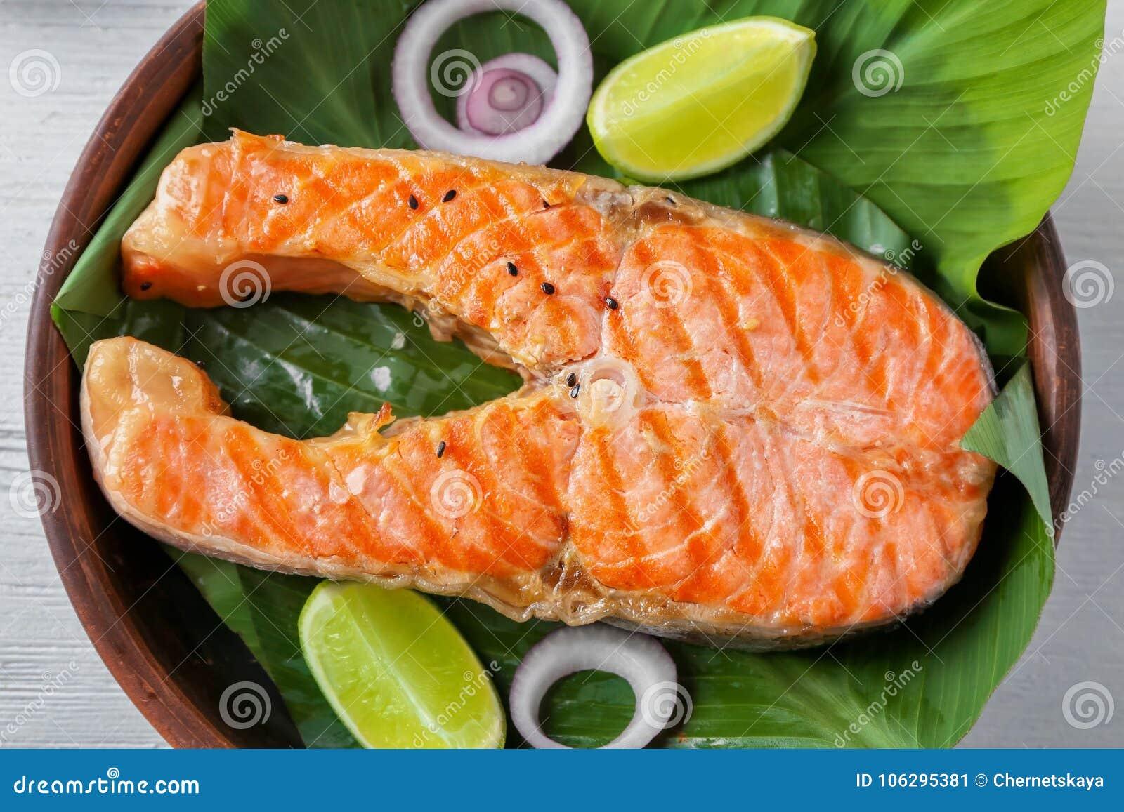 Filete de color salmón delicioso