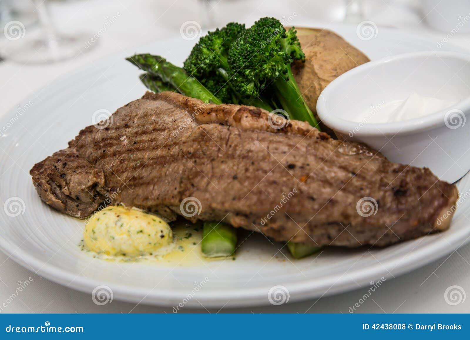 Filete de tira con bróculi