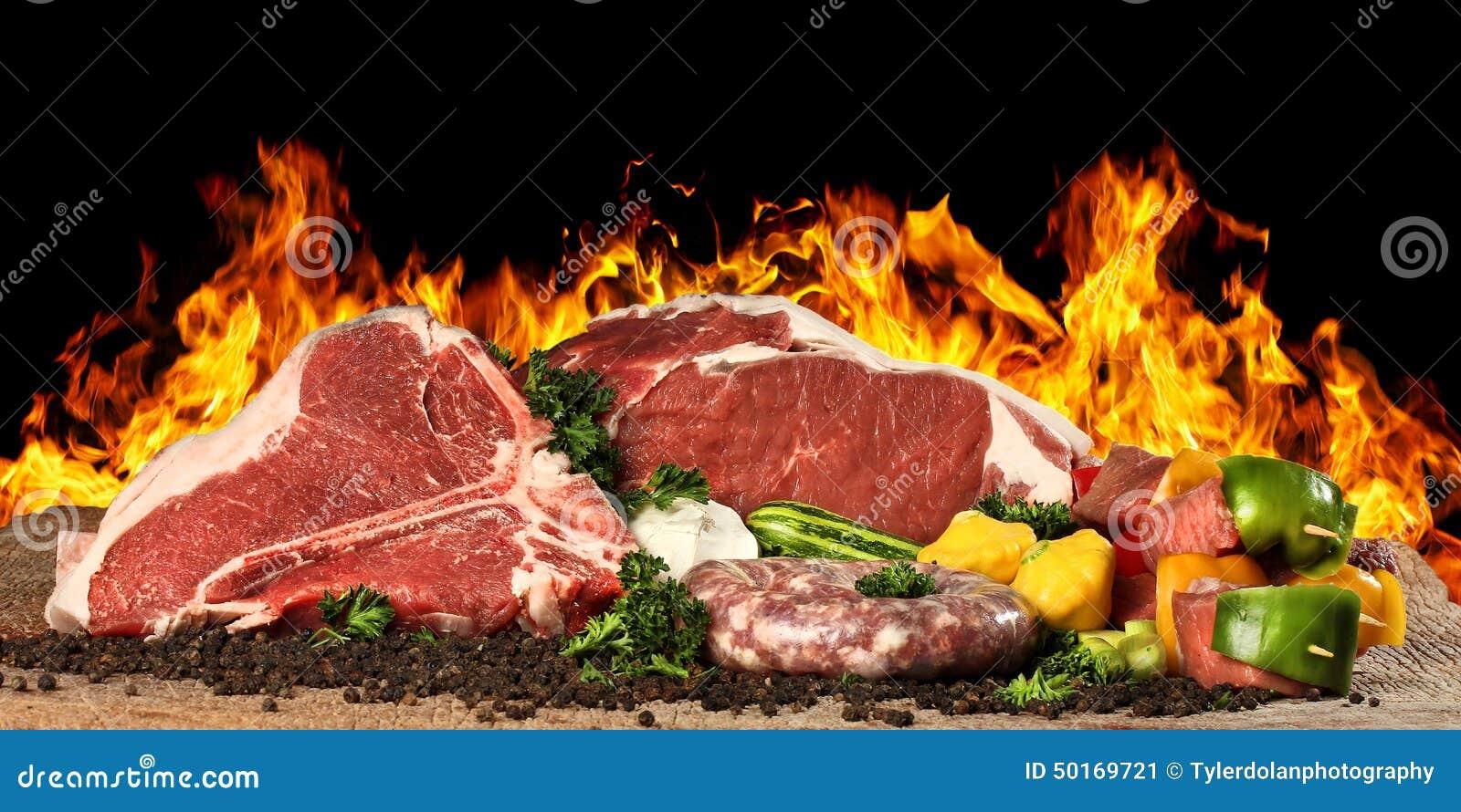 Filete sin procesar de la carne